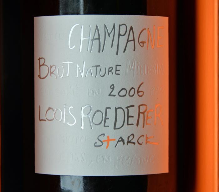 shampanja, Louis Roederer, Louis Roederer Brut Nature 2006, juhlajuoma, kuiva shampanja, shampanjasuositus, champagne, Philippe Starck champagne